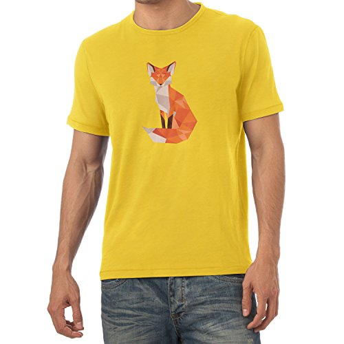 Texlab T-shirt - Col En V - Manches Courtes - Homme Gelb