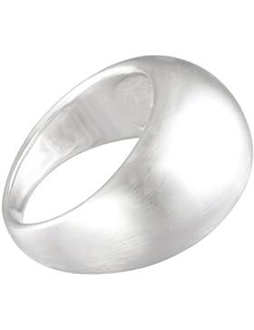Vinani Damen-Ring schlicht gewölbt matt Sterling Silber 925 RGM