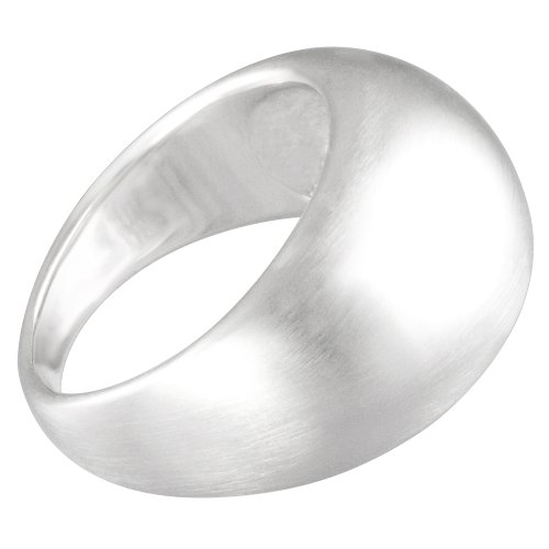 Vinani Ring gewölbt schlicht mattiert massiv  Sterling Silber 925 Größe 62 (19.7) RGM62