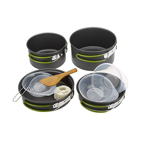 Lixada Camping Kochgeschirr Set Ofen multifunktionale Kochen für 2 bis 3 Personen
