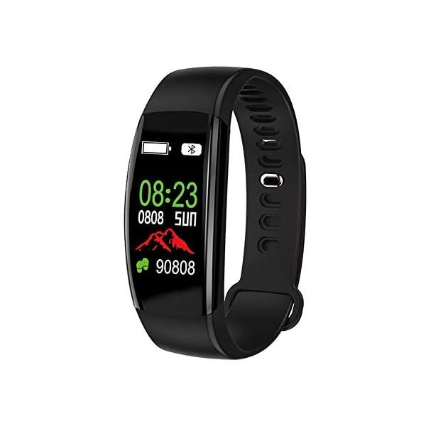 Pulsera impermeable Bluetooth 4.0fitness Tracker podómetro Monitor de ritmo cardiaco del sueño mallalah deporte reloj Smart Watch, color Negro 3