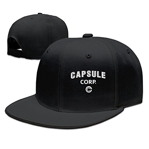 Trithaer Dragon Dall Capsule Corp Baseball Snapback Cap Black -
