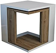 Bravo Cubic Nesting Table 2 Pcs, White