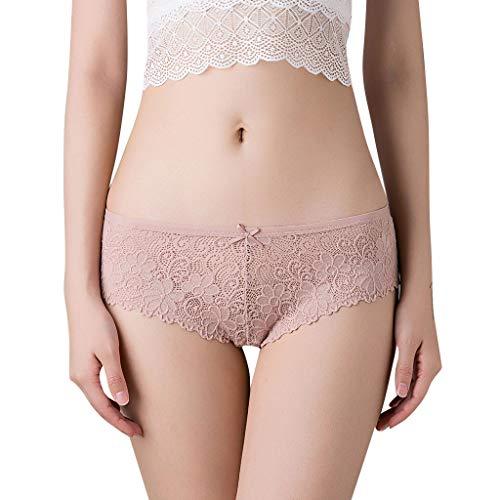 Spitzen-stretch-slips (Damen Unterhosen PANPANY Reizwäsche für Frauen, Dessous-Höschen aus Spitze mit Öffnung im Schritt, Panty-Slip mit weicher Stretch-Spitze)