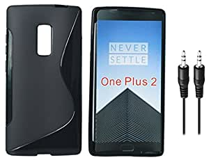 Combo Pack, High Quality Anti-Skid TPU Back Cover for OnePlus 2 with Audio AUX Cable Free