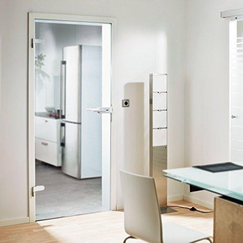 Glas-Drehtür Tür Zimmertür Innentür Wohnungstür 834x1972mm Sicherheitsglas 8mm (ESG) klar DIN links (Holz-innentüren)