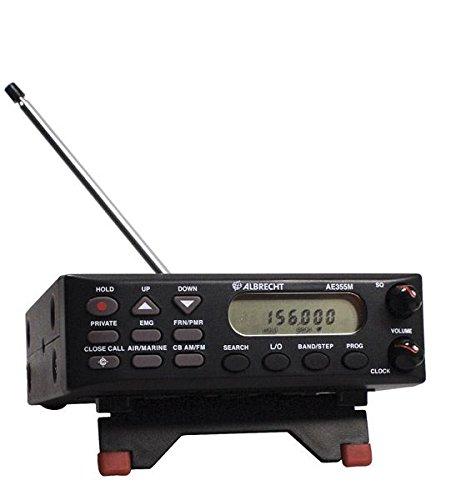 """Albrecht AE-355M - Radio scanner mobile/fisso AM/FM con funzione """"Chiudi Chiamata"""" e programmatore UK UHF, frequenze chiesa e moschea"""