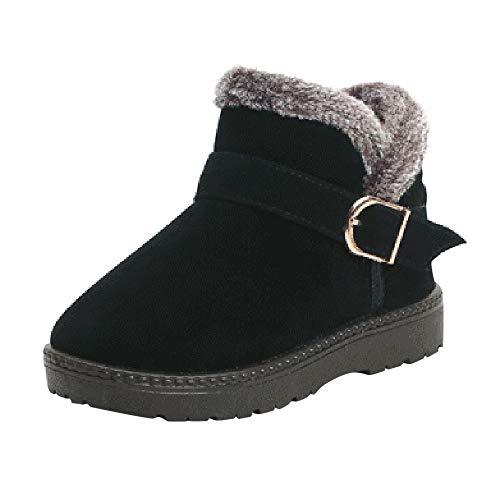 YanHoo Zapatos para niños Botas de Nieve de Invierno para niños y Botas de Terciopelo Antideslizantes calientan Zapatos Zapatos Moda cálida Niños Chicas Niños Estudiantes Botas de Nieve
