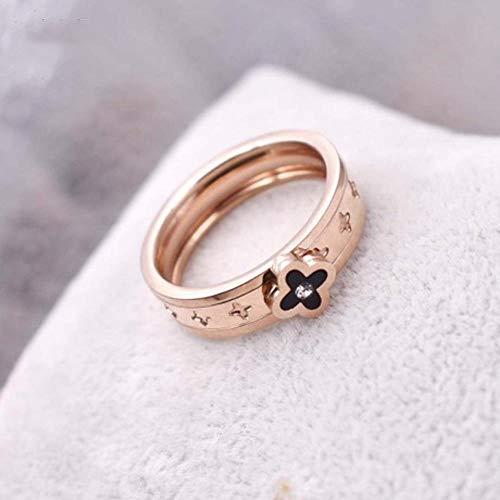 GFLD Ring Frau Rotgold Titan Stahlring kann gedreht werde
