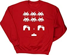 Hippowarehouse Space Invaders Kids Children's Unisex Jumper Sweatshirt Pullover