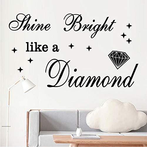 Diy Fhine Helle Wie Ein Diamant Kunst Wandaufkleber Steuern Dekor Wohnzimmer Pegatinas De Pared Adesivos De Parede Wandaufkleber - Chanel Diamant