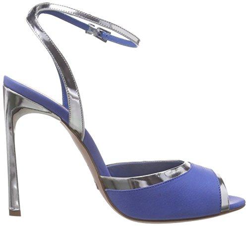 Sebastian S7038 Vaav+spar, Sandales Bride arrière femme Bleu-Argent (VAAV+SPAR)