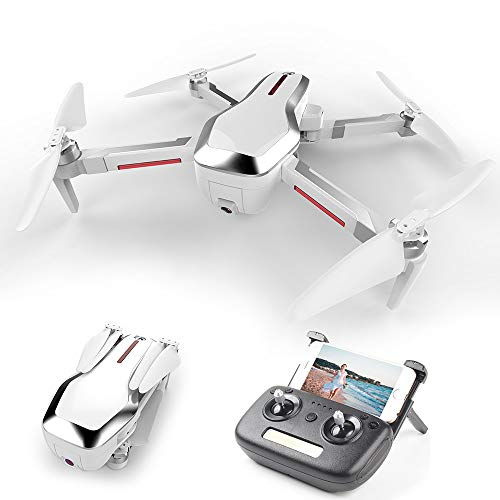 Goolsky CSJ-X7GPS Brushless 4K Drohne mit Kamera 5G WiFi FPV Faltbarer Autorücklauf Optischer Fluss Positionierungsgeste Foto MV Editierung GPS Quadcopter