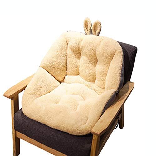Hussen, Auflagen&Überwürfe Kaninchen Kissen Student Kissen EIN Bürostuhl Kissen Rückenlehne Computer Stuhl Furz Pad Verdickung (Color : Weiß, Size : 45cm*45cm*5cm)