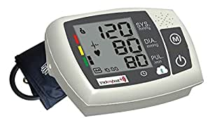 TrackMyBeat BP319A Bluetooth-enabled Automatic Blood Pressure Monitor & TMB Vitals Solution (1-yr) (Grey)