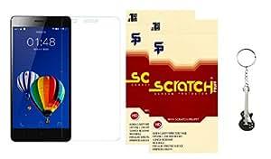 Scratch Pruff Matte Screen Guard For Lenovo A859 Pack of 2