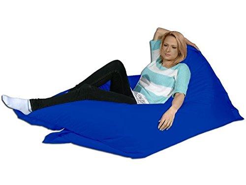 berlinpillow.de 4260406161170 Original Bean Bag, In und Outdoor Sitzsack XXXL Bed Bag, 200 x 140 cm, blau (Stoff-wohnzimmer-bean-bag)