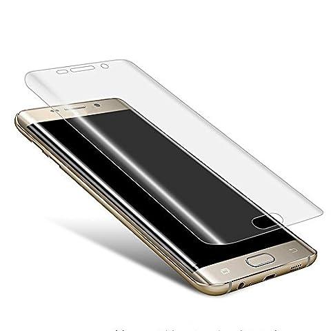 Blufox* 3D Panzerglas-Folie transparent klar Samsung Galaxy S6 Edge Plus Vollabdeckung curved Glasfolie Hartglas Gorilla Glas Glas-s klar Samsung Galaxy S6 Edge Plus G928 (5.5 Zoll 13,9 cm)
