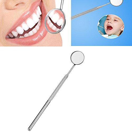 Mitlfuny Zahnarztspiegel Mundspiegel Dentalspiegel,Anti Nebel Oral Dental Spiegel,Haushalts-Mundpflege-Werkzeuge (B)