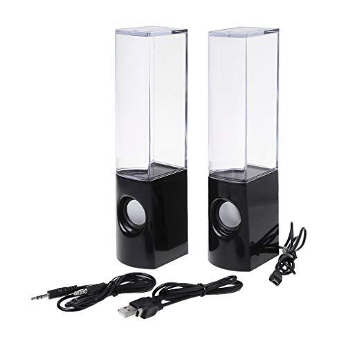 certylu Wasser tanzen Bluetooth Lautsprecher Musik brunnen USB wiederaufladbare Decor 2 stück