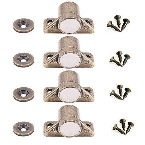 mciskin-Juego de 4 accesorios de armario con cierre magnético para pu