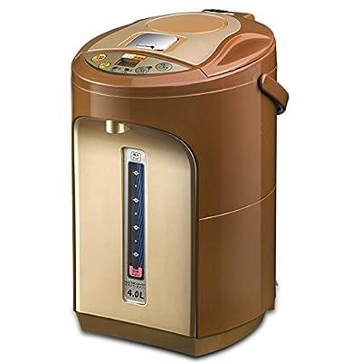 CAICOLORFUL Bouilloire électrique automatique automatique 24 heures d'isolation 7 sortes de température Siège social 304 en acier inoxydable bouilloire 4L 1200W Bouilloire électrique