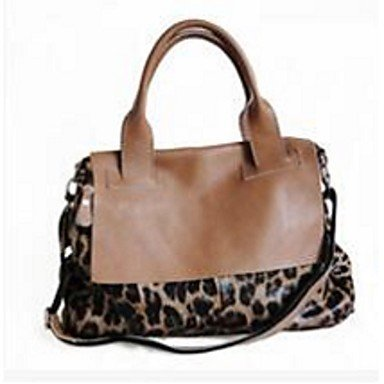 Women-Handbag-Cowhide-Casual-Tote-Almond-Black