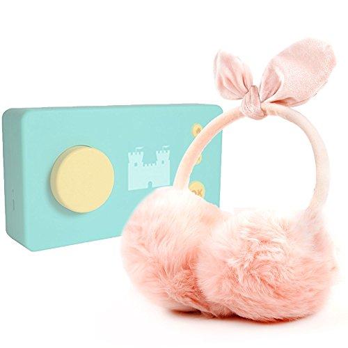 DURAGADGET Casque Audio Rose doré Cache-Oreille en Fausse Fourrure Compatible avec Lunii, ma Fabrique à Histoires