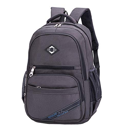 Herren Damen Children Student Schulrucksack,Zip Waterproof Anti-Theft Outdoor Camping Backpack Teenage Girls Boys School Backpack Travel Solid Students Messenger Bags (Hippie Kostüm Boy)