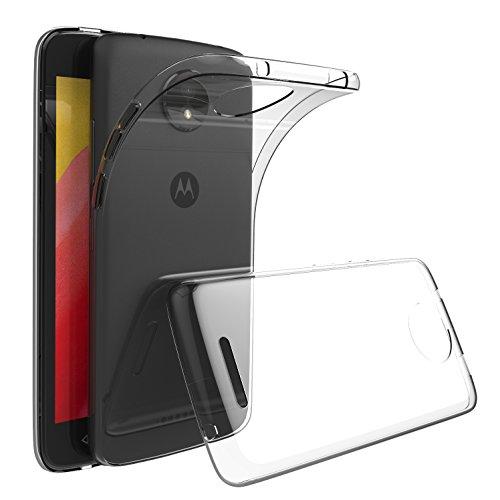 GeeRic Für Motorola Moto C Hülle, Transparent Silikon Schutzhülle für Moto C TPU Case Durchsichtige Crystal Clear Bumper Cover Lenovo Moto C Handyhülle
