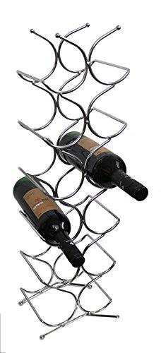 Weinregal Weinständer Flaschenregal aus Metall für 12 Flaschen Weinhalter Weinständer Flaschenständer Weinflaschenhalter 21.5x16x69.7cm