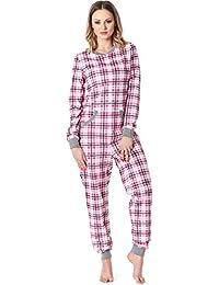 Merry Style Damen Schlafanzug Strampelanzug Schlafoverall MS10-175