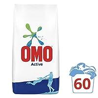 Omo Active Beyazlar ve Renkliler için Toz Çamaşır Deterjanı, 9 kg, 60 Yıkama, 1 Paket (1 x 9000 g)