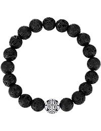 8mm Pierres précieuses naturelles de guérison MetJakt avec Crystal Bangle Bracelet en perles avec pendentif en Argent Pendentif Double Happiness