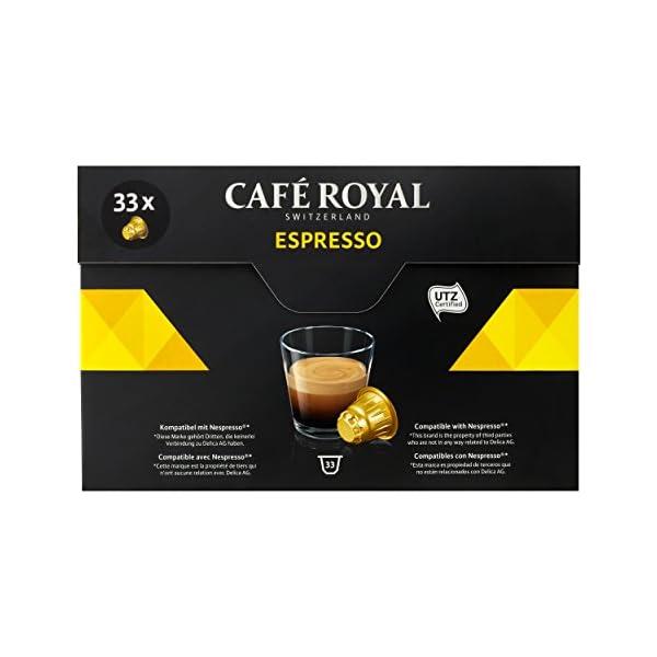 41GgtpsFPvL._SS600_ Café Royal Espresso, Caffè, Caffè Tostato, Capsule, Nespresso connettore, 132Capsule