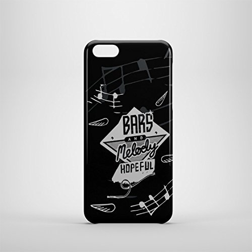 Barres et Melody Coque iPhone 5C Noir