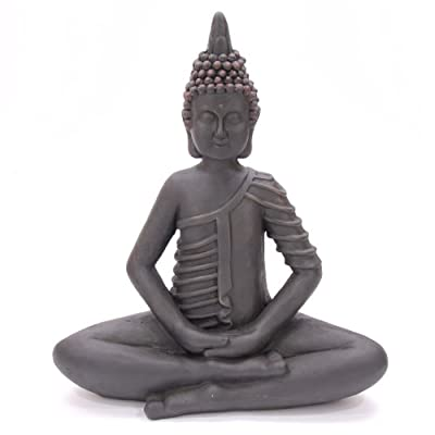 Smooth Weathered Effect Crossed Legged Thai Buddha 49cm