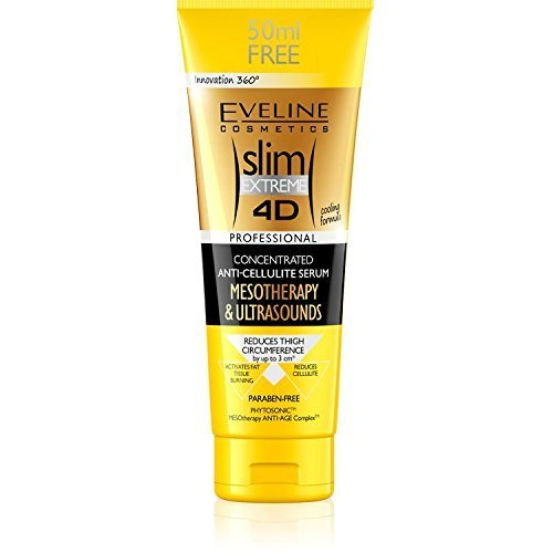 Eveline Slim Extreme 4D Mesotherapy and Ultrasound Concentrated Anticellulit Serum (200ml +50ml EXTRA)