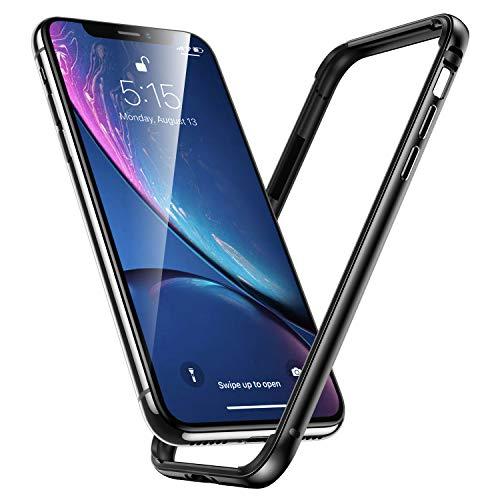 ESR Kompatibel mit iPhone XR Hülle, Metall Aluminium Rahmen mit innerem TPU Stoßdämpfer Handyhülle Alu Bumper Case Hand Schutzhülle für iPhone XR (6,1 Zoll) -Spacegrau