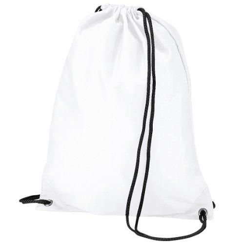 Imagen de bagbase   saco o de cuerdas impermeable/resistente al agua modelo budget deporte/gimnasio 11 litros  talla única/blanco