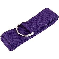 180cm Correa de Yoga Cinturón de Estiramiento Práctica de Ejercicio Físico -Púrpura