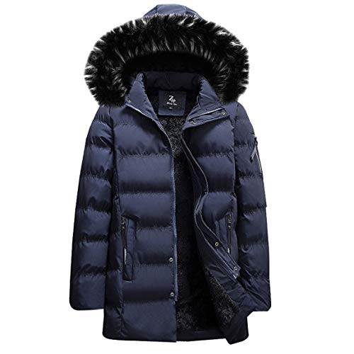 (Herren Winter Windjacke Mann männlich Daunenjacke Herbst Reine Farbe Tasche Camouflage Zipper Mit Kapuze Jacke Top Coat Moonuy)
