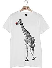 Batch1 Sport Relief Rollerskating Giraffe Red Nose Fashion Mens Womens T-Shirt