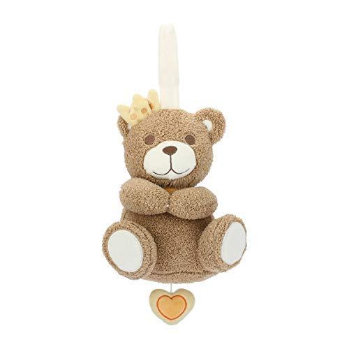 THUN® - Peluche Principe Teddy con Carillon - Bimbo, Giochi per Neonati - Linea Prime Coccole