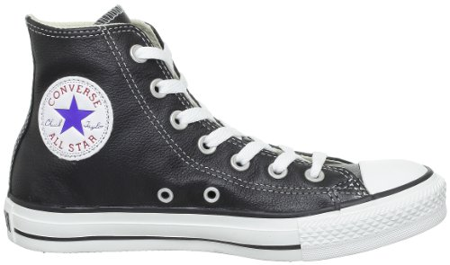 Converse Chuck Taylor All Star Core Lea Hi, Baskets mode mixte adulte noir/blanc