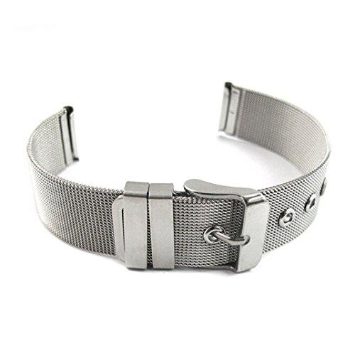 Preisvergleich Produktbild Sansee Mode Milanese Armbänder Edelstahl Breite 14-24mm-Armbanduhr-Band-Bügel Edelstahlgewebe Band Bügeluhr (Width:18mm)