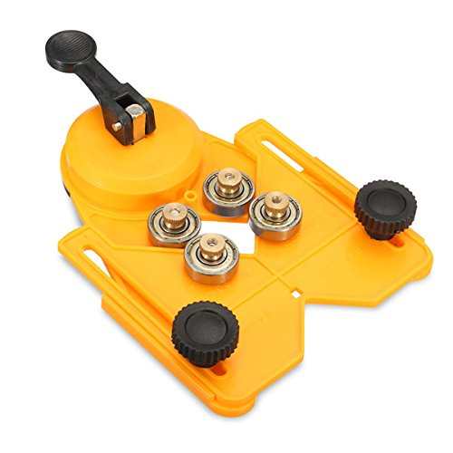 EsportsMJJ Adjustable 4-83Mm Guide Locator Tile Drill Bit Glass Hole Saw Guide Locator Openings Sucker - Yellow