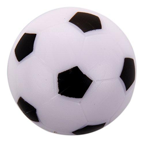 SODIAL Kleine Fussball Tischkicker Ball Kunststoff Harte Homo Logue Kinder Spiel Spielzeug Schwarz Weiss -