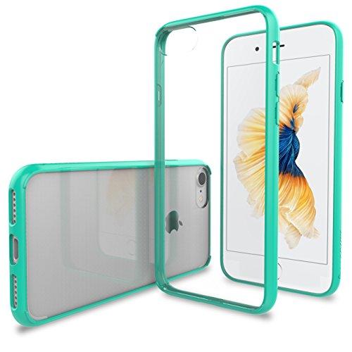 iPhone 7Coque, Luvvitt [Transparent] Coque arrière hybride résistant aux rayures avec bumper antichocs pour Apple iPhone 7-Crystal Clear