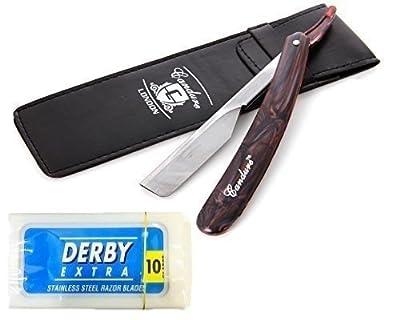 CANDURE Straight Cut Throat Razor - Barber Manual Shaving gift set High quality